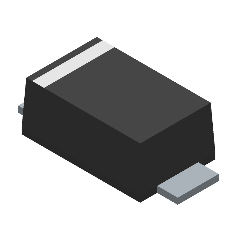 Toshiba CRH01(T5L,TEMQ) (Small Outline Diode Flat Lead) 3D model isometric projection.