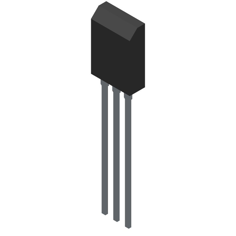 BD139G - ON Semiconductor - 3D model - Transistor Outline, Vertical - TO-225 CASE 77-09
