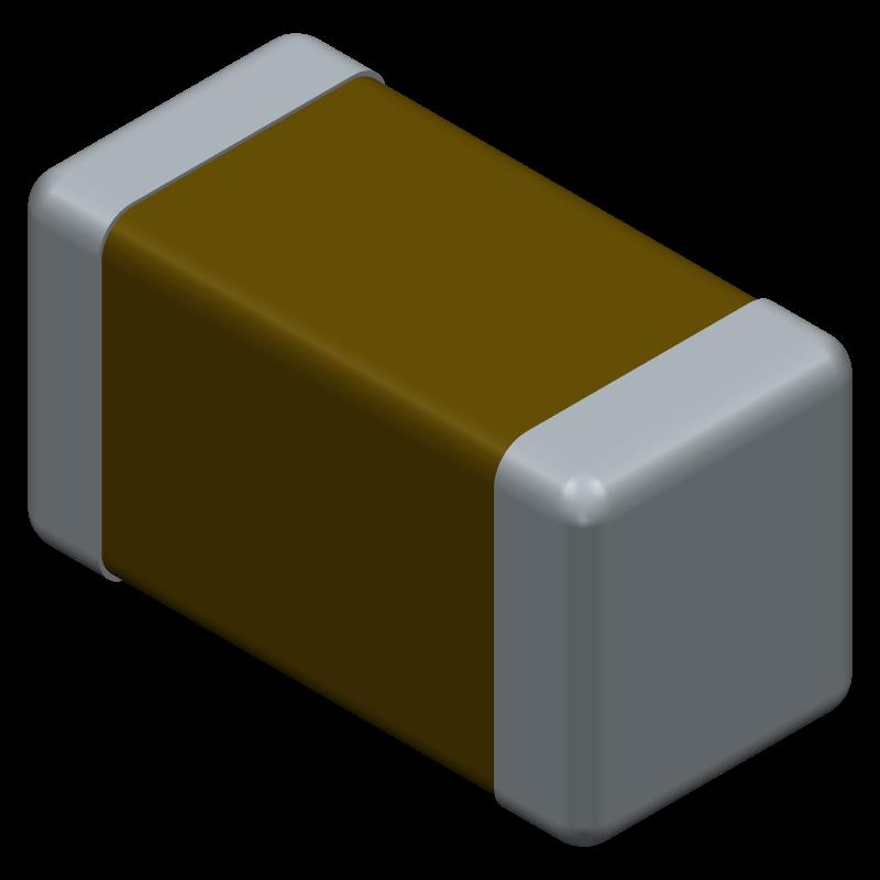 C1206C475K5RACAUTO - Kemet - 3D model - Capacitor Chip Non-polarised - 1206 EH