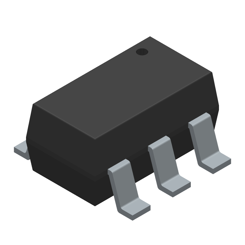 STMicroelectronics USBLC6-2SC6 (SOT23 (6-Pin)) 3D model isometric projection.