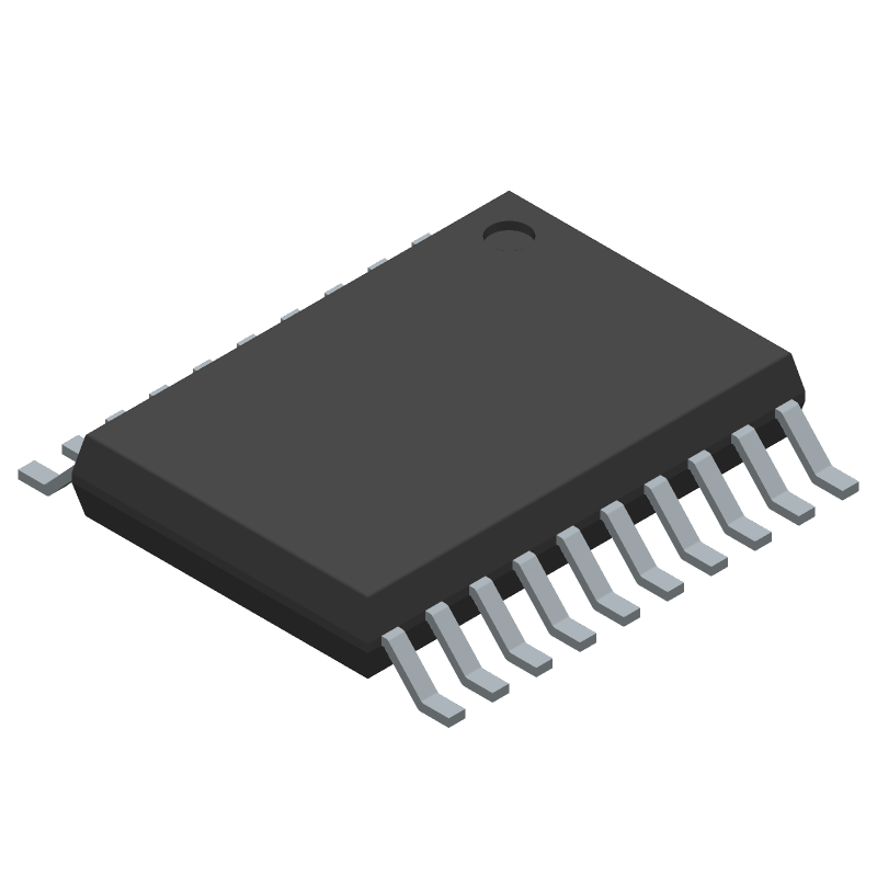 STMicroelectronics STM32F030F4P6TR (Small Outline Packages) 3D model isometric projection.