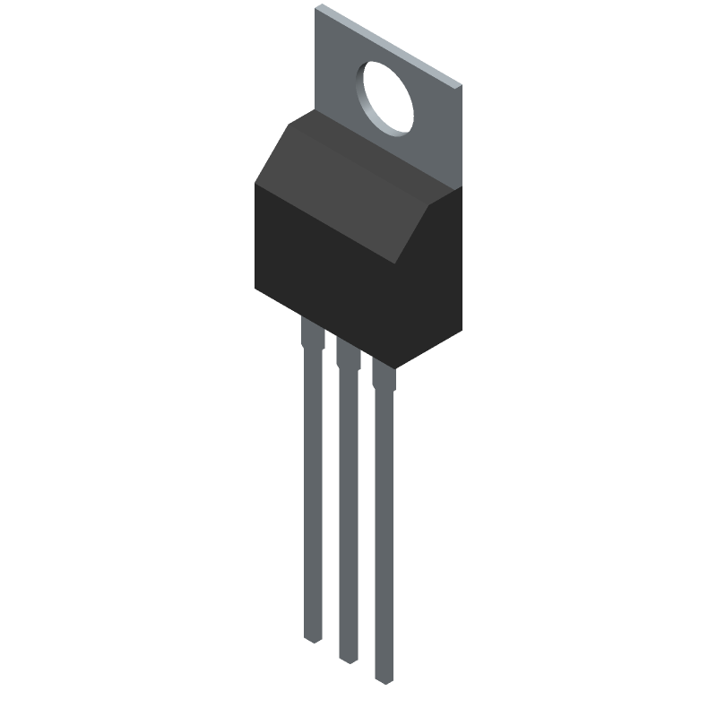 MC7812BTG - ON Semiconductor - 3D model - Transistor Outline, Vertical - TO-220 CASE221AB