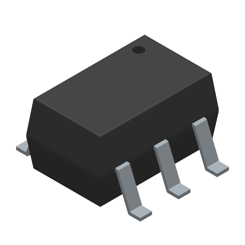 ON Semiconductor SMF05CT1G (SOT23 (6-Pin)) 3D model isometric projection.
