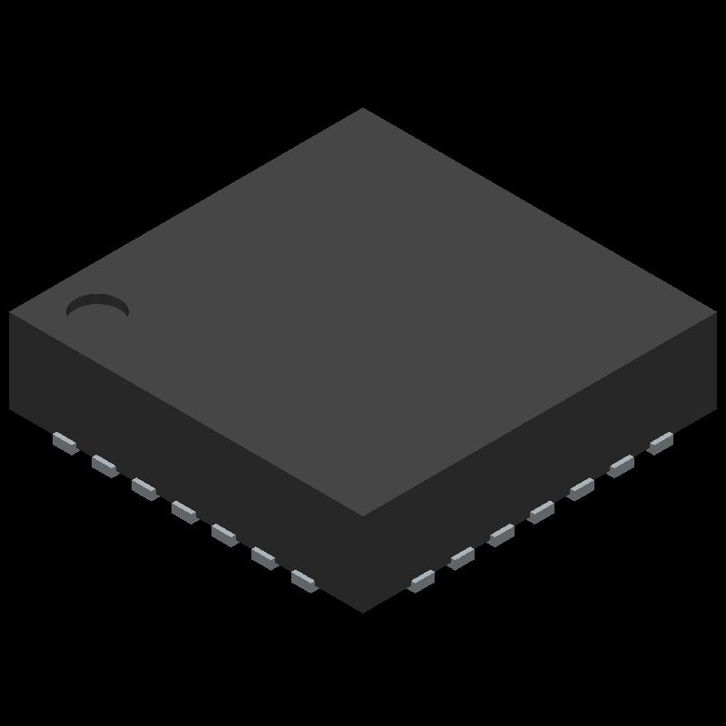 ATMEGA328-MMH - Microchip - 3D model - Quad Flat No-Lead - VQFN 28M1