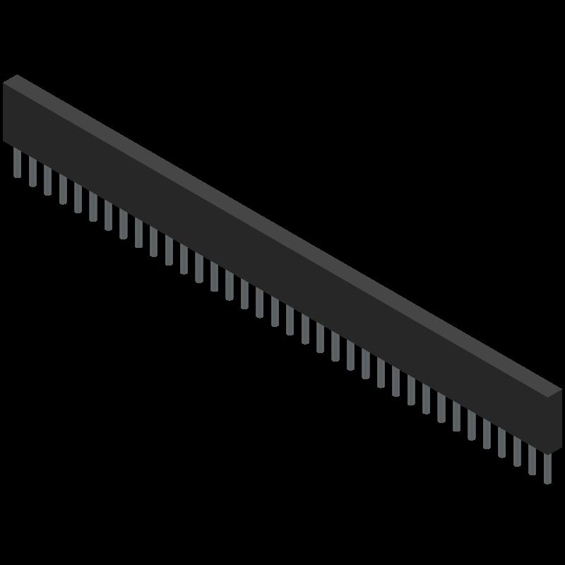 68000-136HLF - Amphenol - 3D model - Other - 68000-136HLF-2