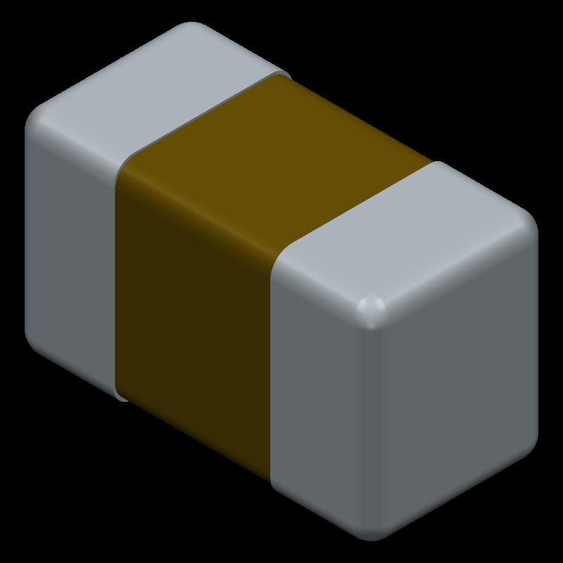 C0603X104K5RAC3316 - Kemet - 3D model - Capacitor Chip Non-polarised - case code 0603_1