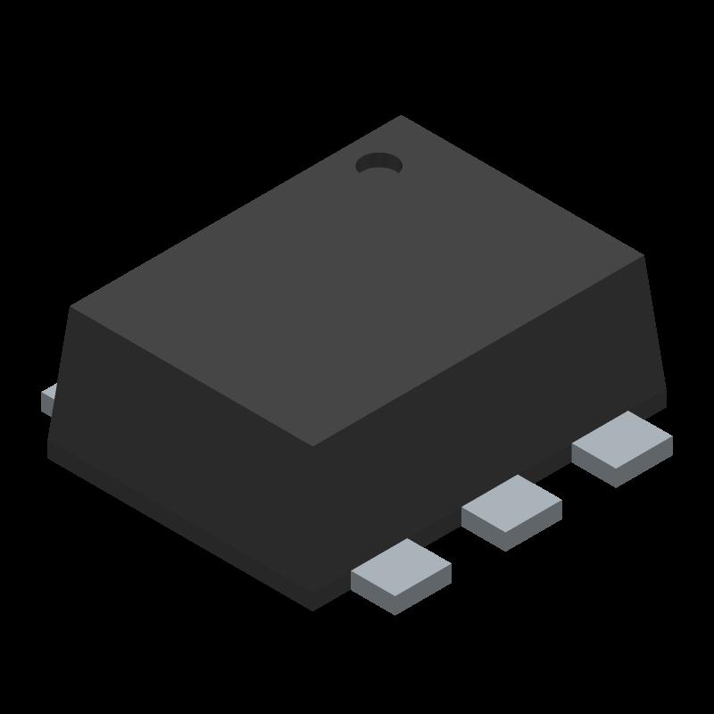 USBLC6-2P6 - STMicroelectronics - 3D model - SO Transistor Flat Lead - SOT-666