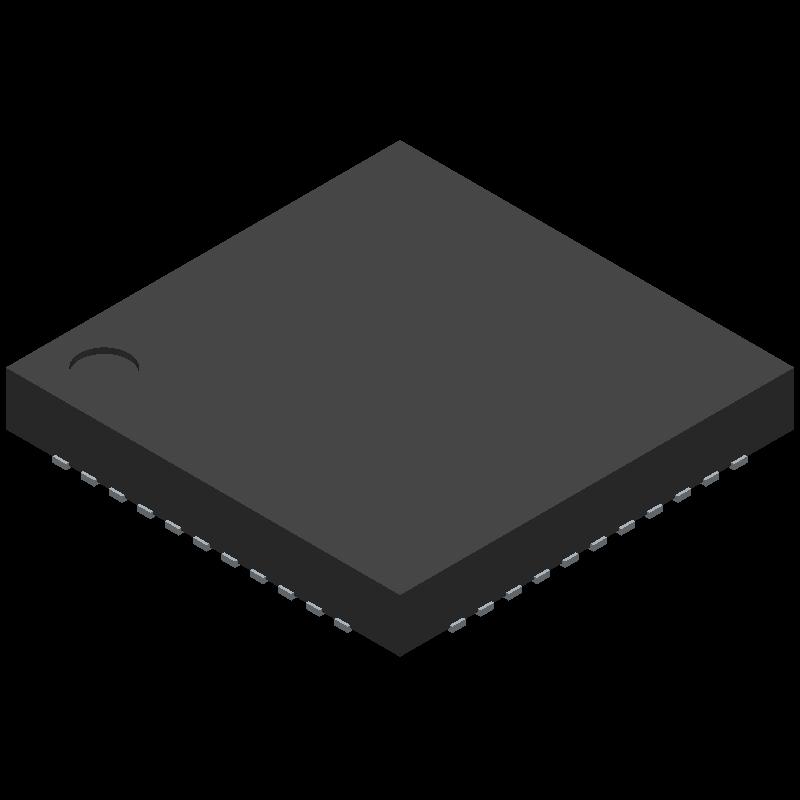 ATMEGA32U4-MU - Microchip - 3D model - Quad Flat No-Lead - VQFN 44PW