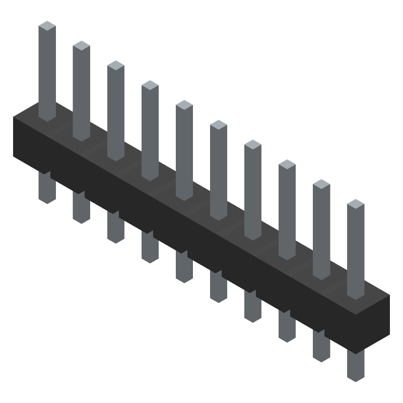 M20-9991045 - HARWIN - 3D model - Header, Vertical - M20-9991045