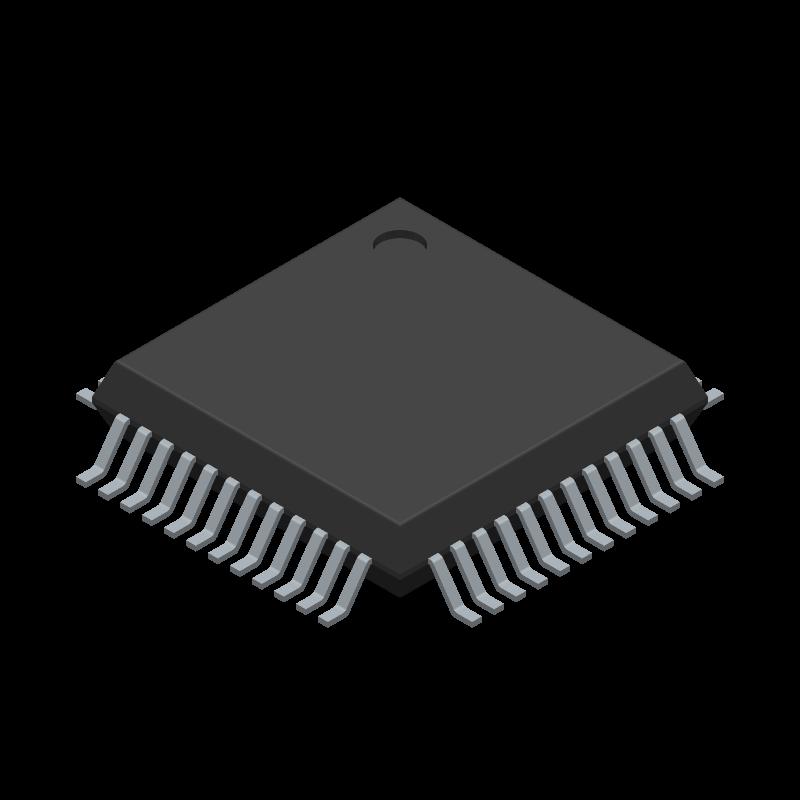 FT2232D - FTDI Chip - 3D model - Quad Flat Packages - 48LD Lead Free LQFP