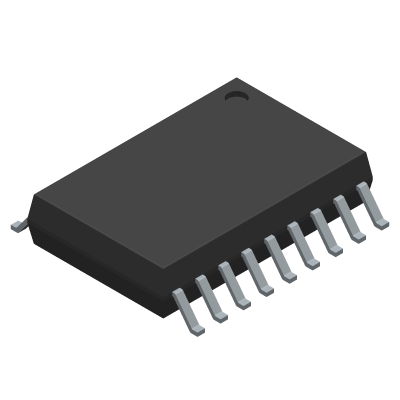 ULN2803ADWR - Texas Instruments - 3D model - Small Outline Packages - DW (R-PDSO-G18)