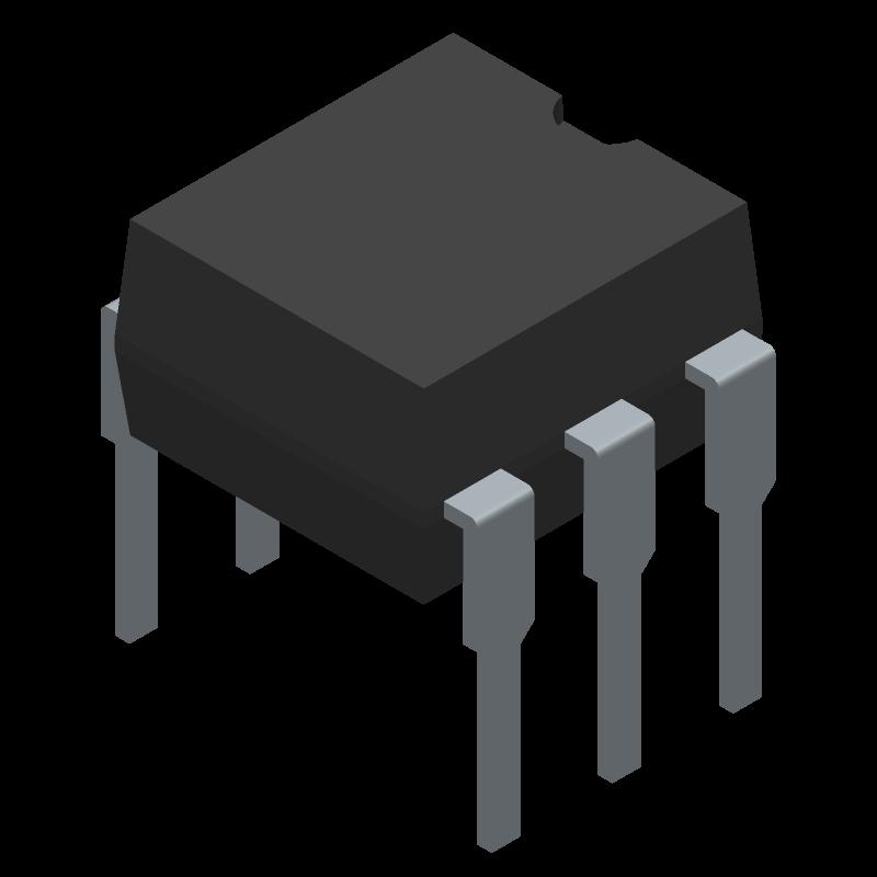 4N25 - Vishay - 3D model - Dual-In-Line Packages - 14771_2 DIP-6