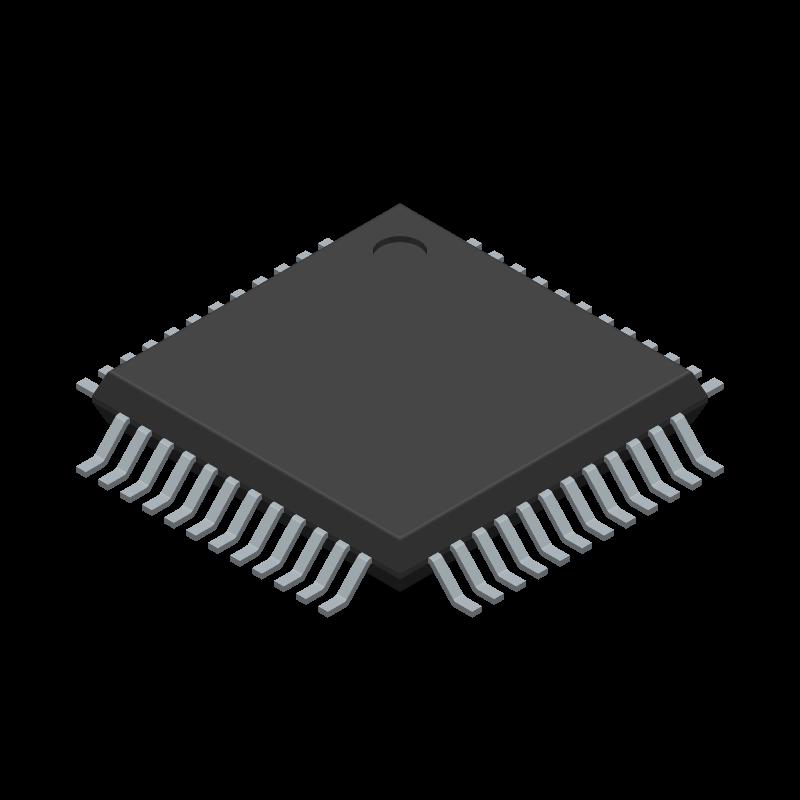 ADG732BSUZ - Analog Devices - 3D model - Quad Flat Packages - SU-48 (TQFP)