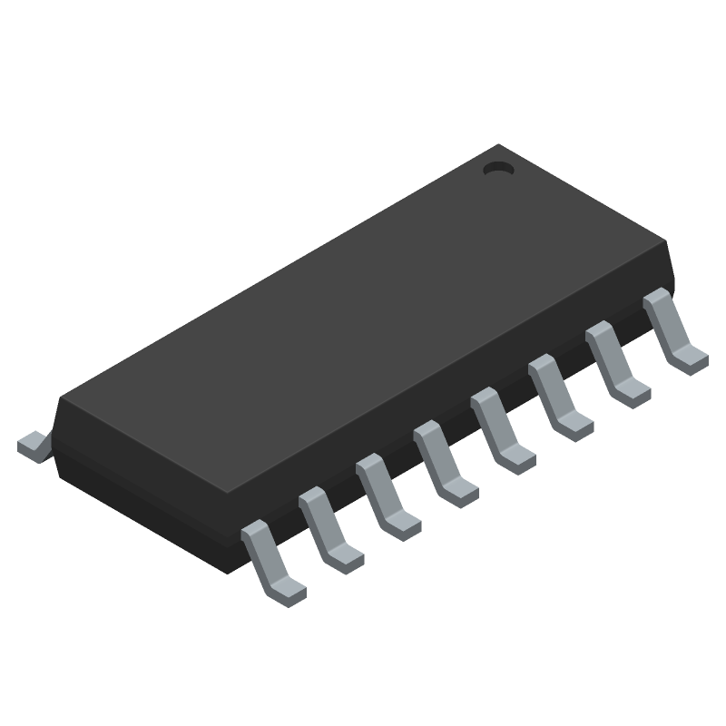 M74HC595YRM13TR - STMicroelectronics - 3D model - Small Outline Packages - ST SO-16_3