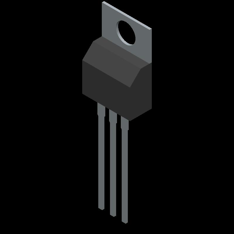 LM7805CT/NOPB - Texas Instruments - 3D model - Transistor Outline, Vertical - NDE0003B