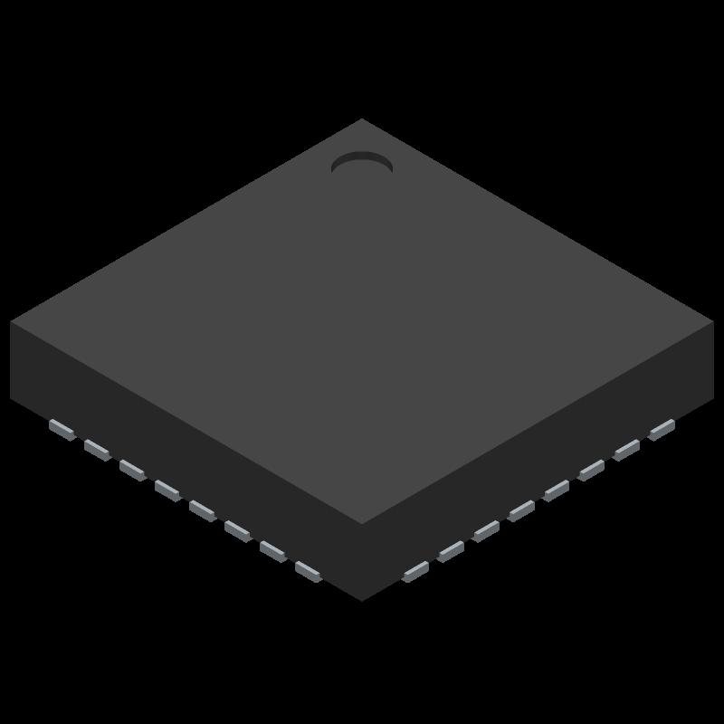 FT232RQ - FTDI Chip - 3D model - Quad Flat No-Lead - QFN-32