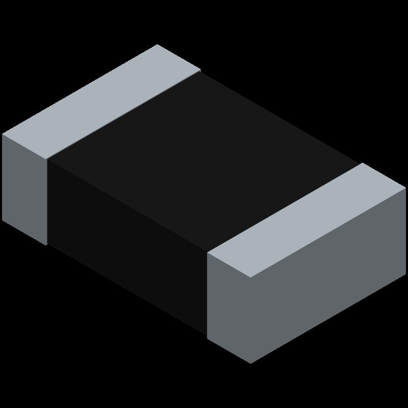 RC0805FR-0710KL - YAGEO (PHYCOMP) - 3D model - Resistor Chip - 0805