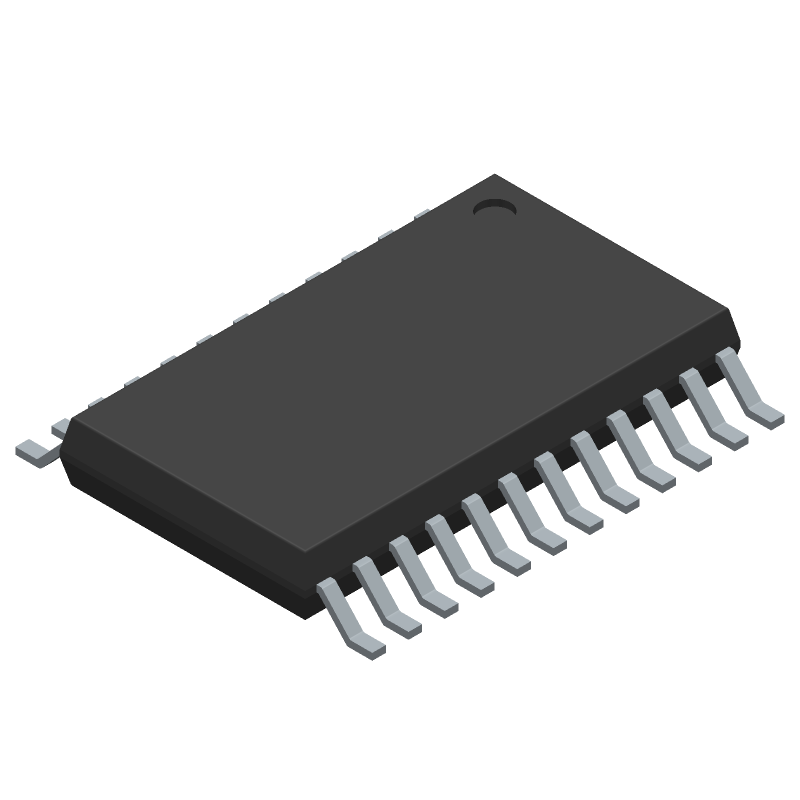 AD7124-4BRUZ - Analog Devices - 3D model - Small Outline Packages - RU-24 (TSSOP)