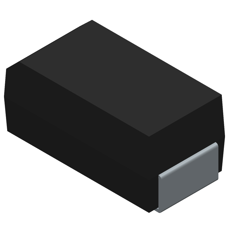 Shikues 1N4007 (Diodes Moulded) 3D model isometric projection.