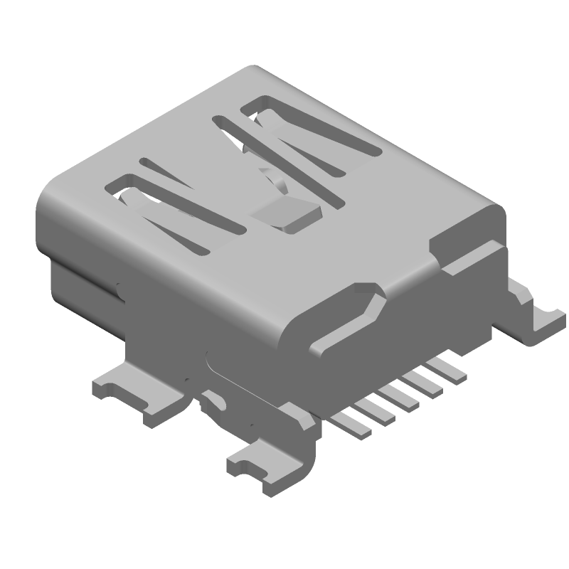 Molex 67503-1020 (Other) 3D model isometric projection.