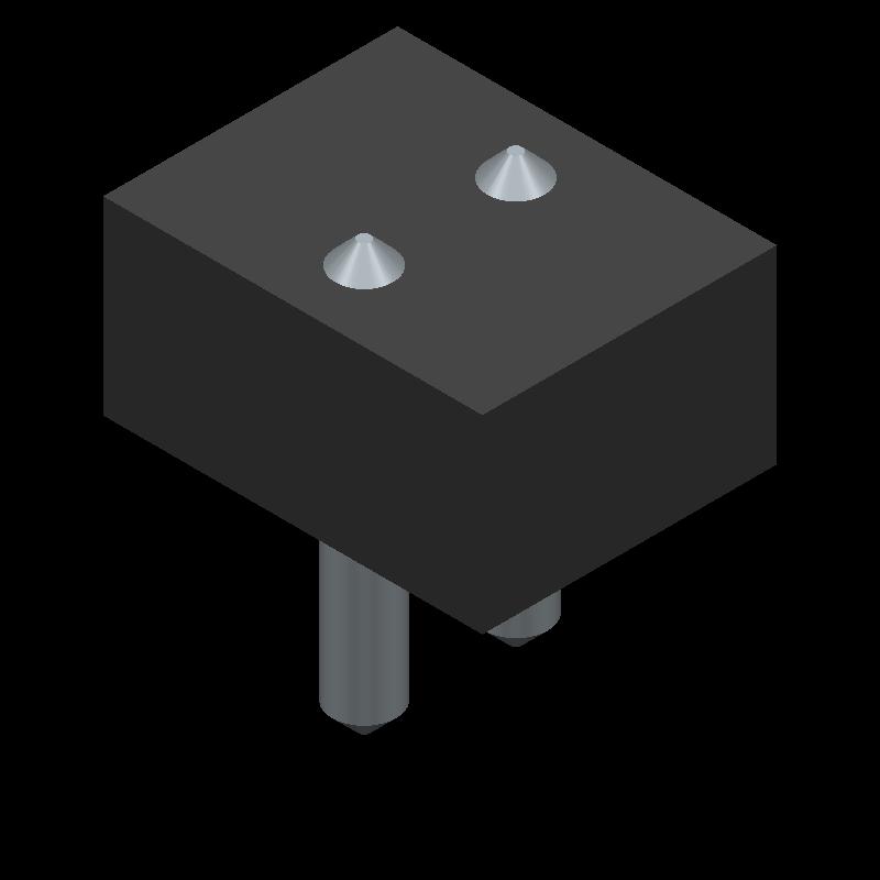22-23-2021 - Molex - 3D model - Header, Vertical - 22-23-202-GGG