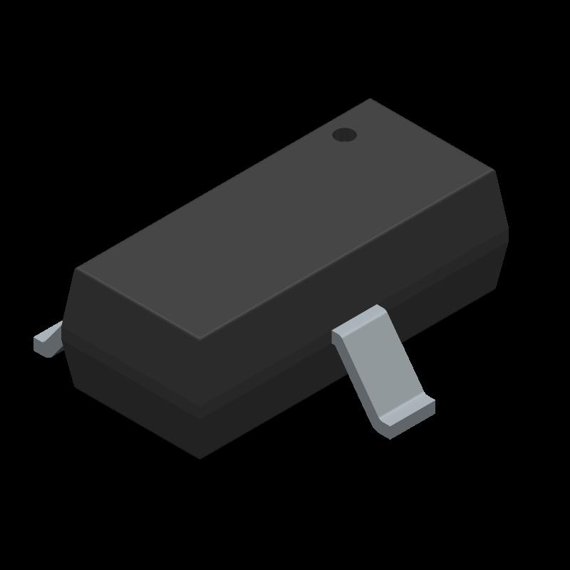 BAS16 - Infineon - 3D model - SOT23 (3-Pin) - SOT23_BCR133