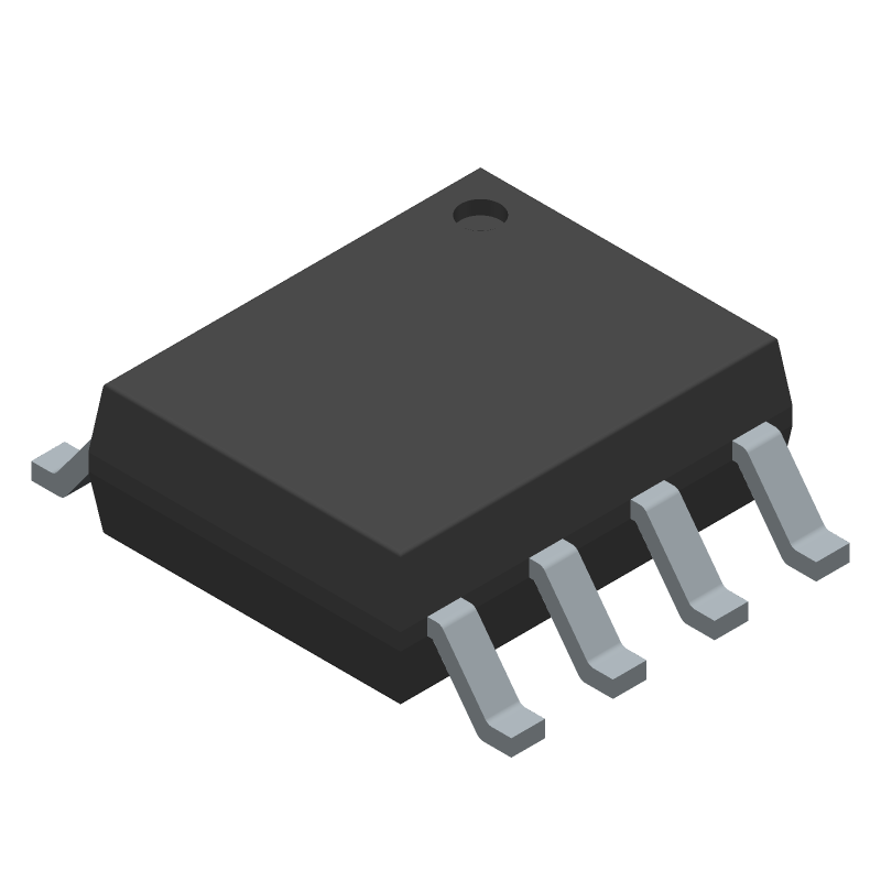 Nanjing Extension Microelectronics TP4056X (Small Outline Packages) 3D model isometric projection.