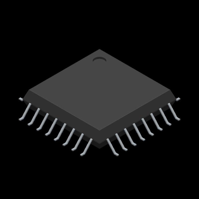 FT232BL - FTDI Chip - 3D model - Quad Flat Packages - 32 LQFP