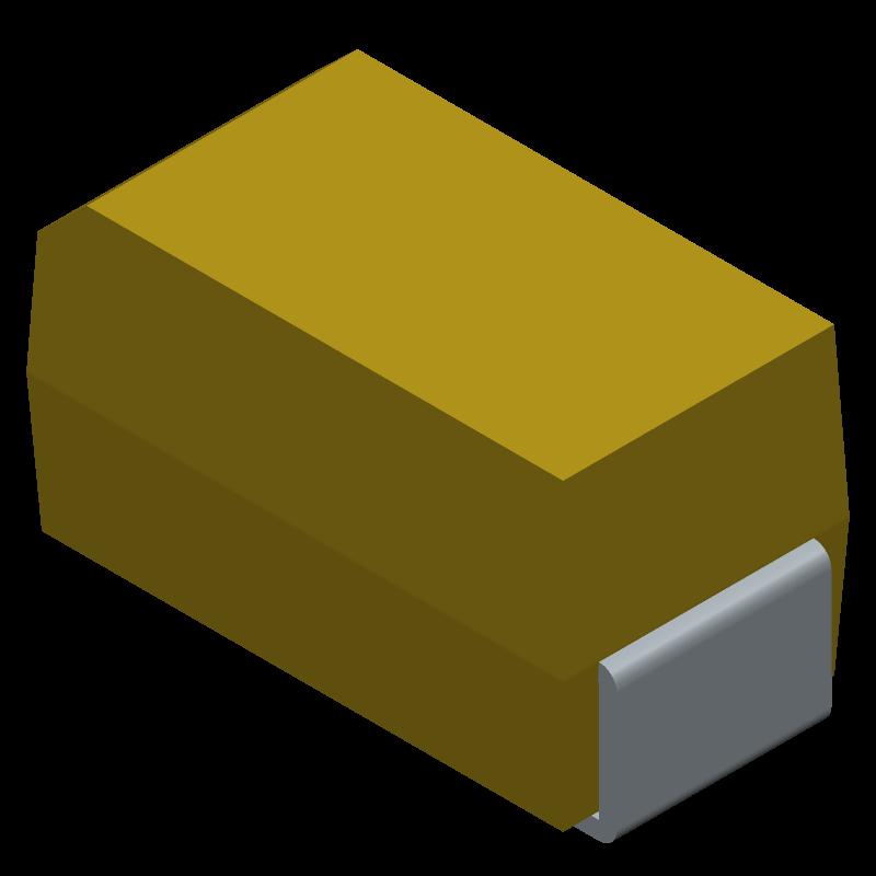 T491A475K010AT - Kemet - 3D model - Capacitor Moulded Polarised - case A
