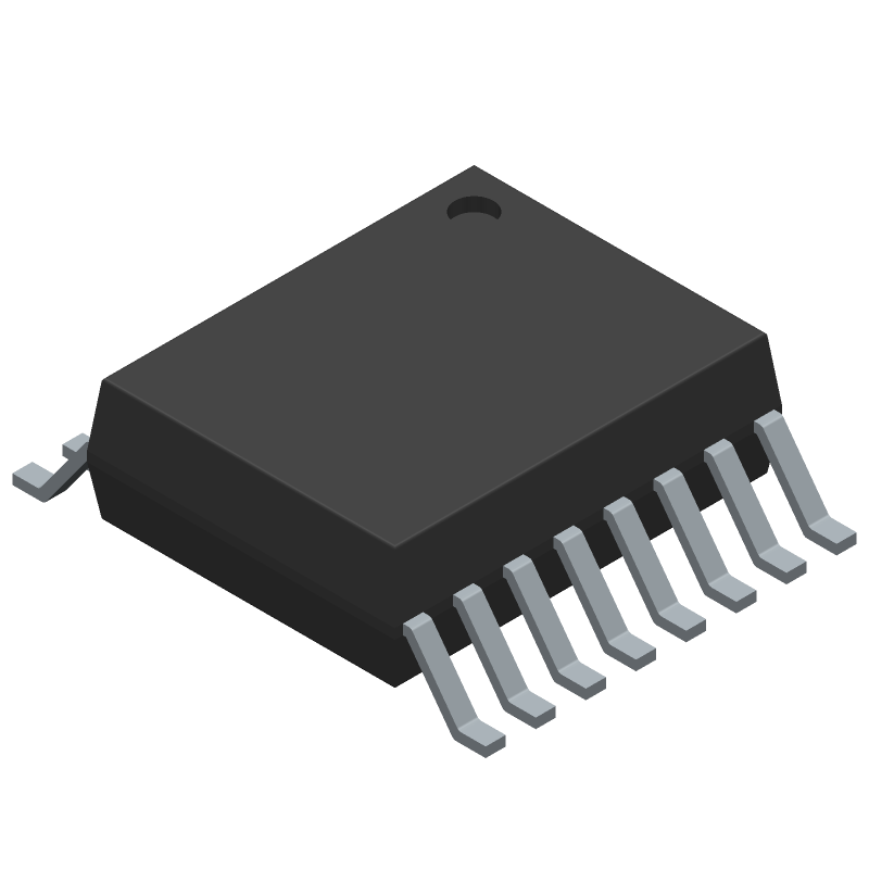 FT230XS-R - FTDI Chip - 3D model - Small Outline Packages - SSOP-16 (MO-137AB)