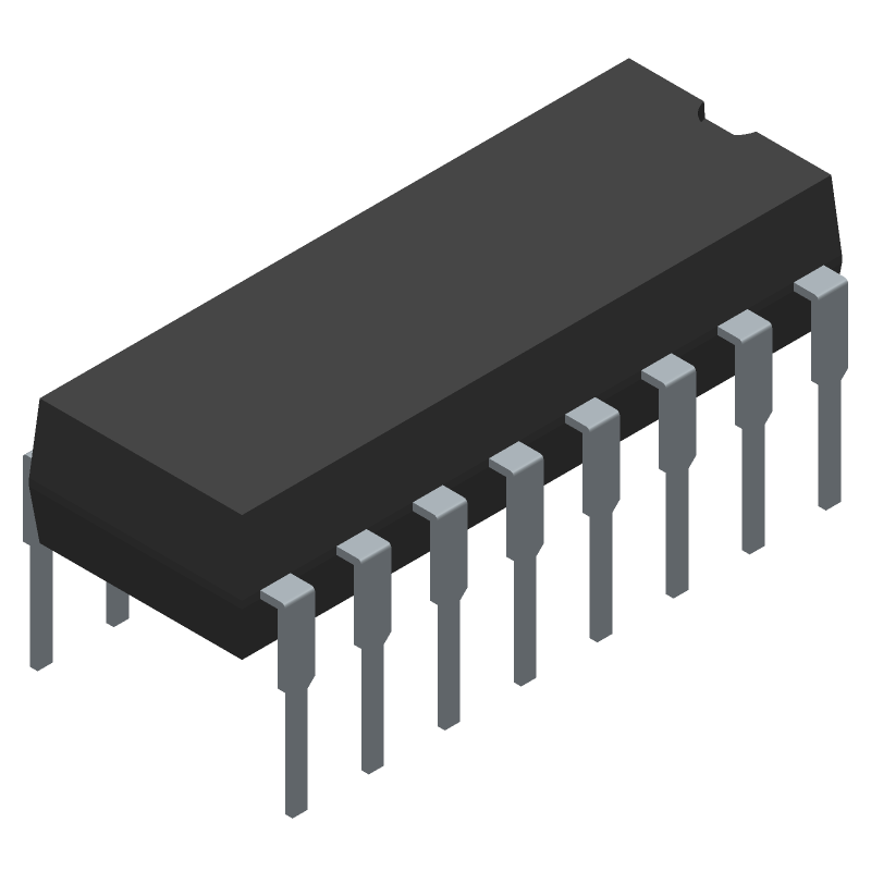 SG3525AN - STMicroelectronics - 3D model - Dual-In-Line Packages - SG3525AN