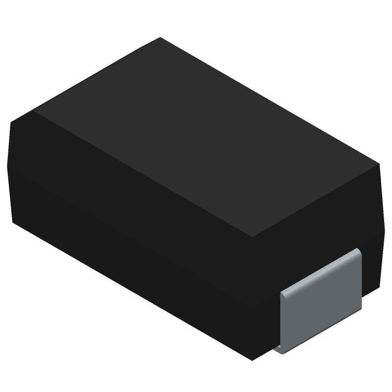 ROHM Semiconductor RB068L100TE25 (Diodes Moulded) 3D model isometric projection.