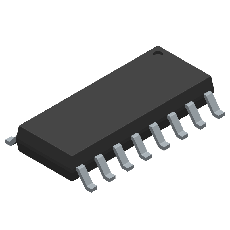 ULN2003ADR2G - ON Semiconductor - 3D model - Small Outline Packages - SOIC-16 CASE751B-05