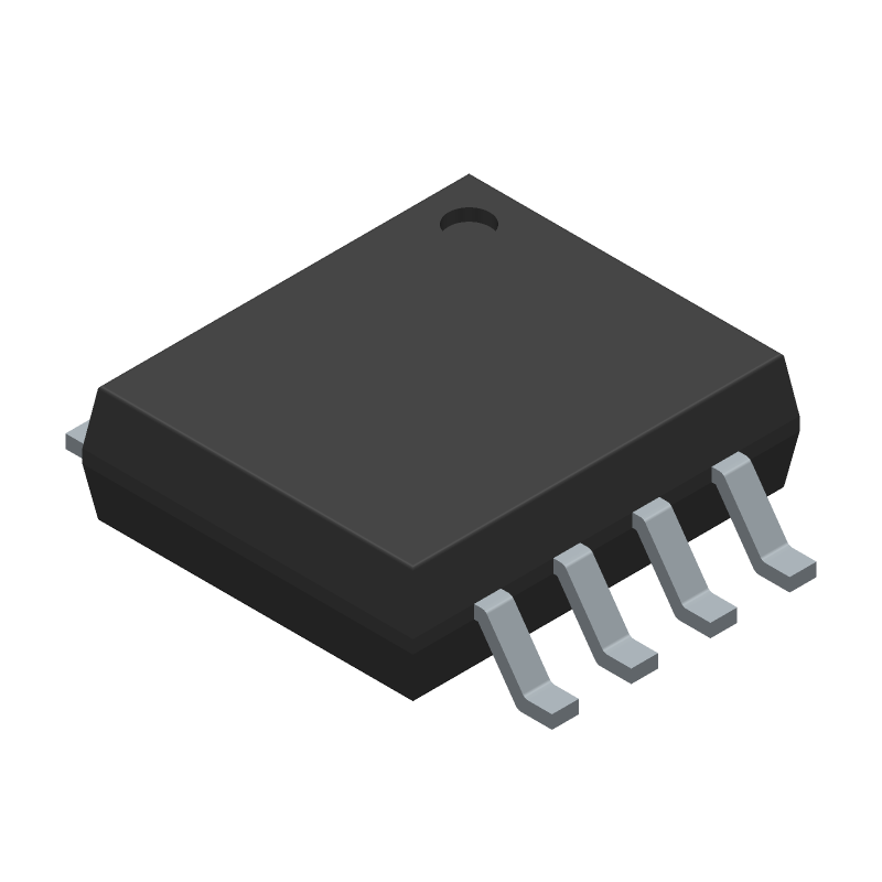 SN74LS00PSR - Texas Instruments - 3D model - Small Outline Packages - PS (R-PDSO-G8)