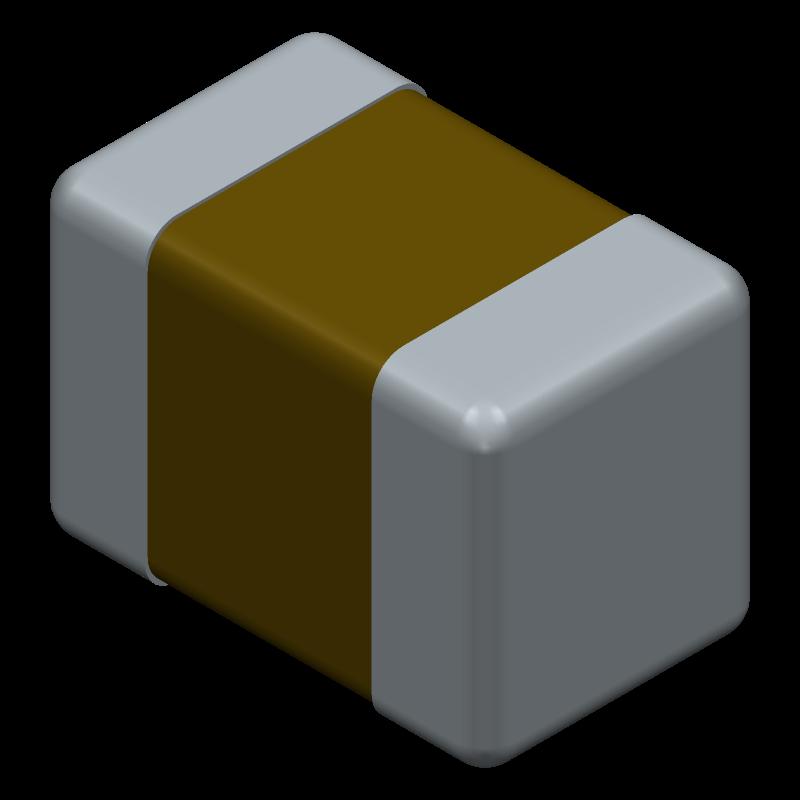 C0805F104K5RACTU - Kemet - 3D model - Capacitor Chip Non-polarised - C0805F104K5RACTU-1