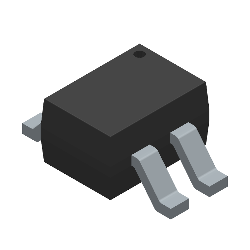 Sharp Microelectronics PC817X1NIP0F (Small Outline Packages) 3D model isometric projection.