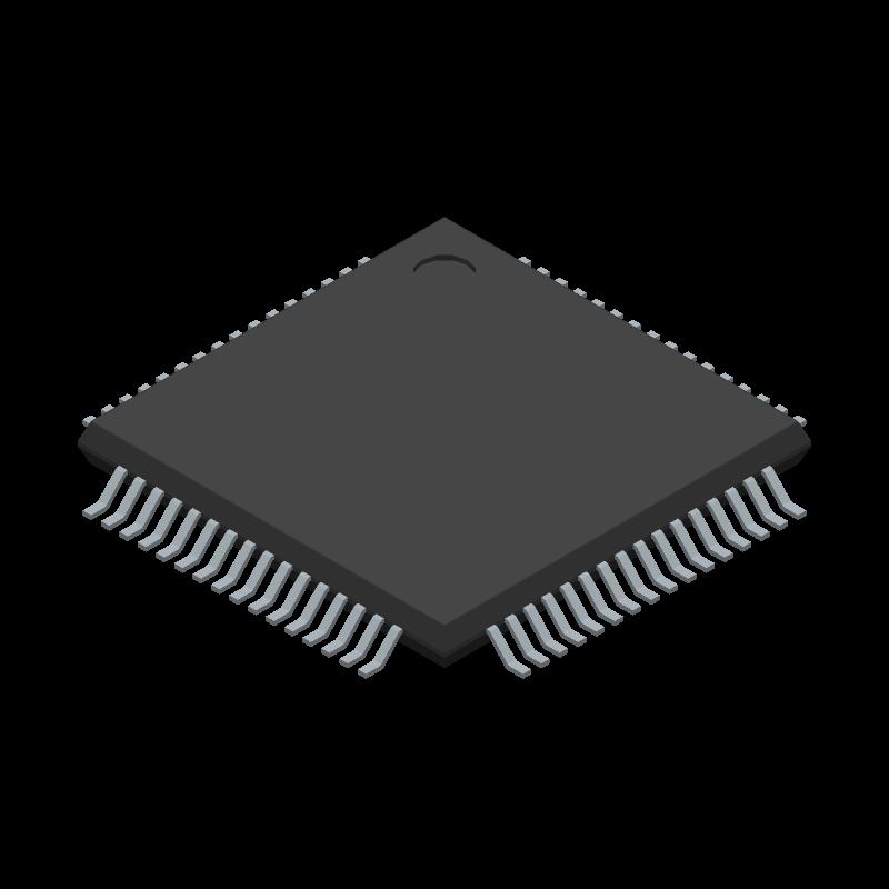 BQ76PL536ATPAPTQ1 - Texas Instruments - 3D model - Quad Flat Packages - PAP (S-PQFP-G64)