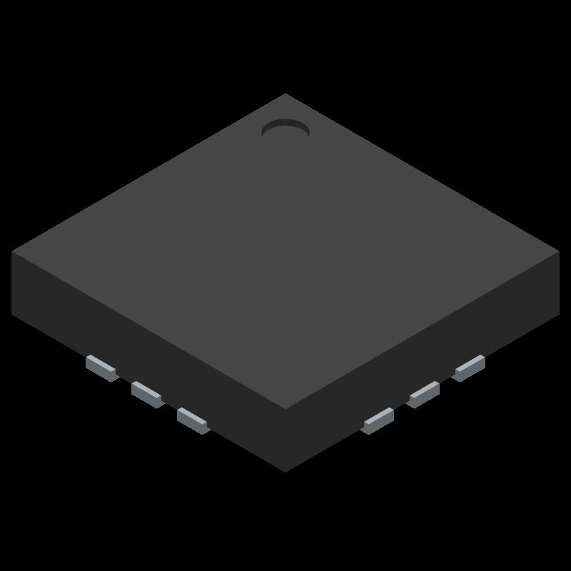 PAM8904EJPR - Diodes Inc. - 3D model - Quad Flat No-Lead - U-QFN3030-12 (Type A)