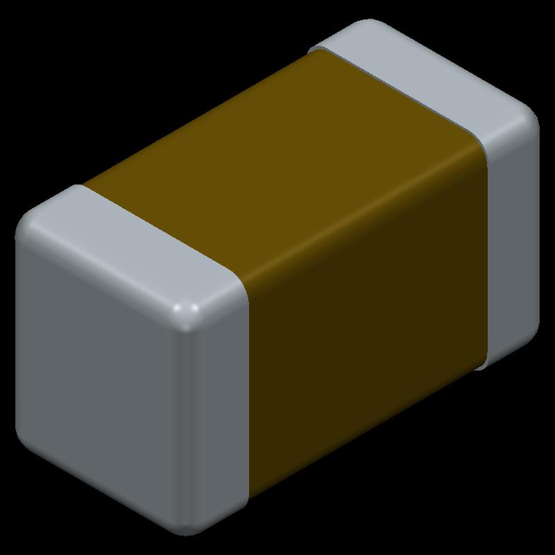 GRM31CR60J107ME39L - Murata Electronics - 3D model - Capacitor Chip Non-polarised - GRM31C