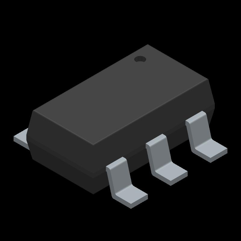 TPS27081ADDCR - Texas Instruments - 3D model - SOT23 (6-Pin) - DDC (R-PDSO-G6)