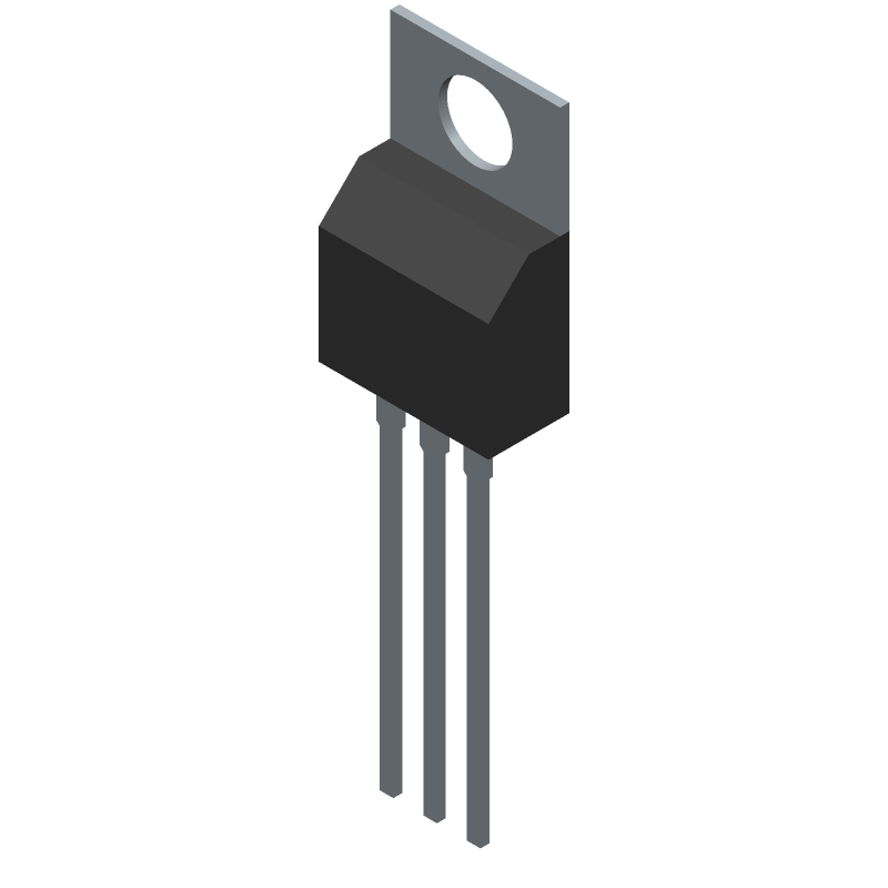 FQP30N06L - Fairchild Semiconductor - 3D model - Transistor Outline, Vertical - TO220, Molded, 3-Lead, Jedec Variation AB