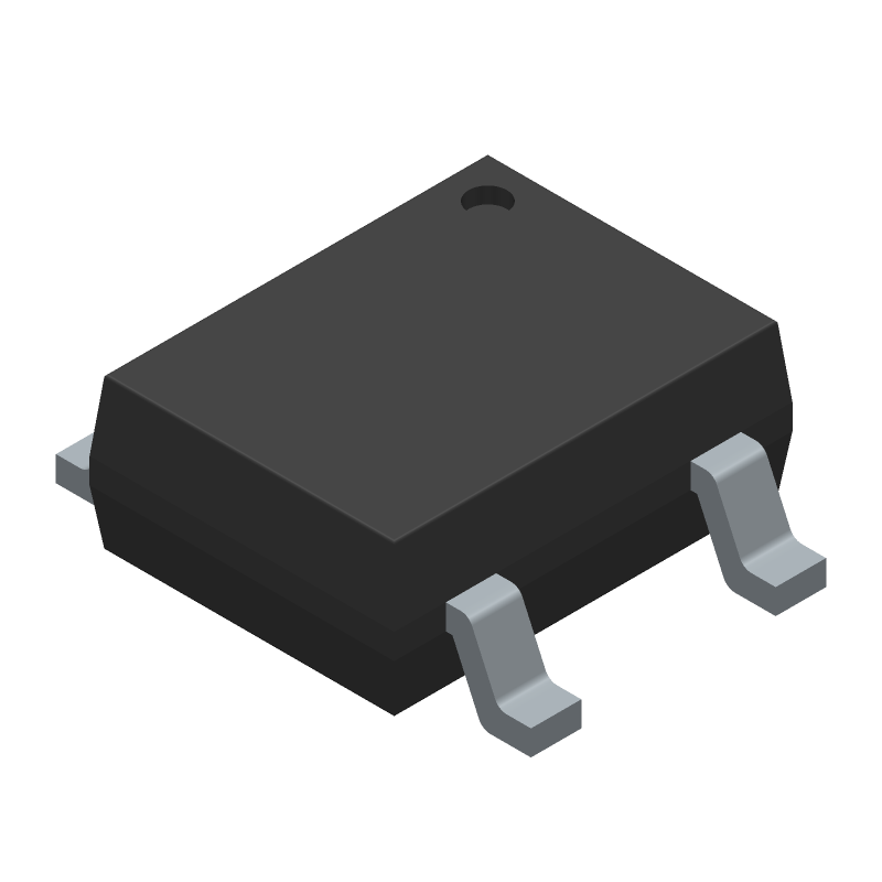 DB107S - Rectron - 3D model - Small Outline Packages - DB-S