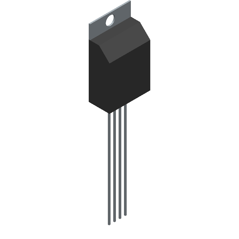 385 - Adafruit - 3D model - Transistor Outline, Vertical - 385
