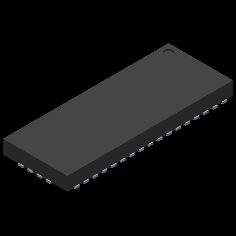 TS3DV642A0RUAR - Texas Instruments - 3D model - Quad Flat No-Lead - RUA (R-PWQFN-N42)_2