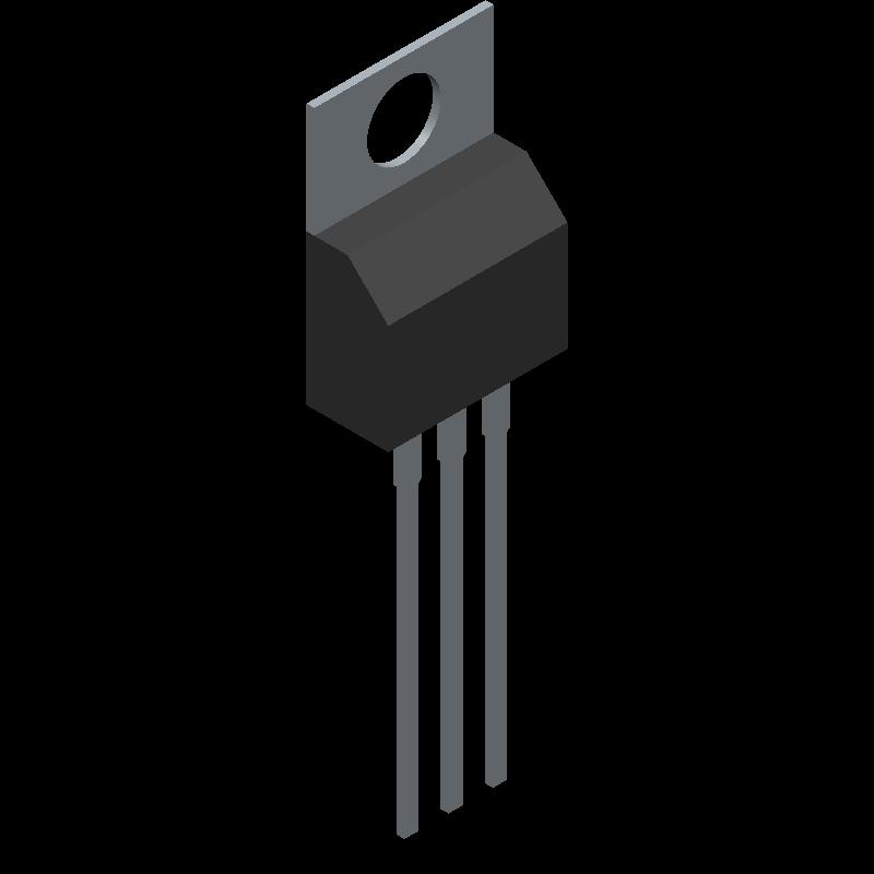 LM317T/NOPB - Texas Instruments - 3D model - Transistor Outline, Vertical - NDE0003B