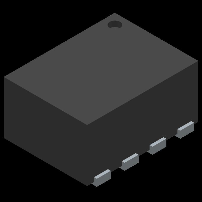 TPS62840DLCR - Texas Instruments - 3D model - Small Outline No-lead - DLC0008B