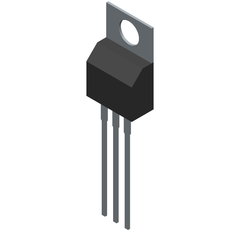 TS7805CZ C0 - Taiwan Semiconductor - 3D model - Transistor Outline, Vertical - TO-220_1