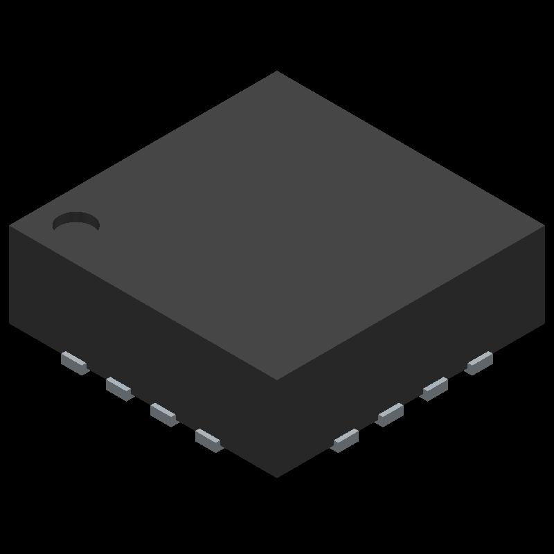 F2258NLGK - IDT - 3D model - Quad Flat No-Lead - F2258NLGK
