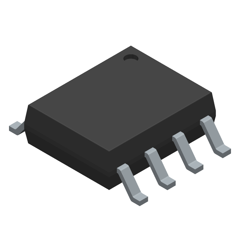 STMicroelectronics LM393ADT (Small Outline Packages) 3D model isometric projection.