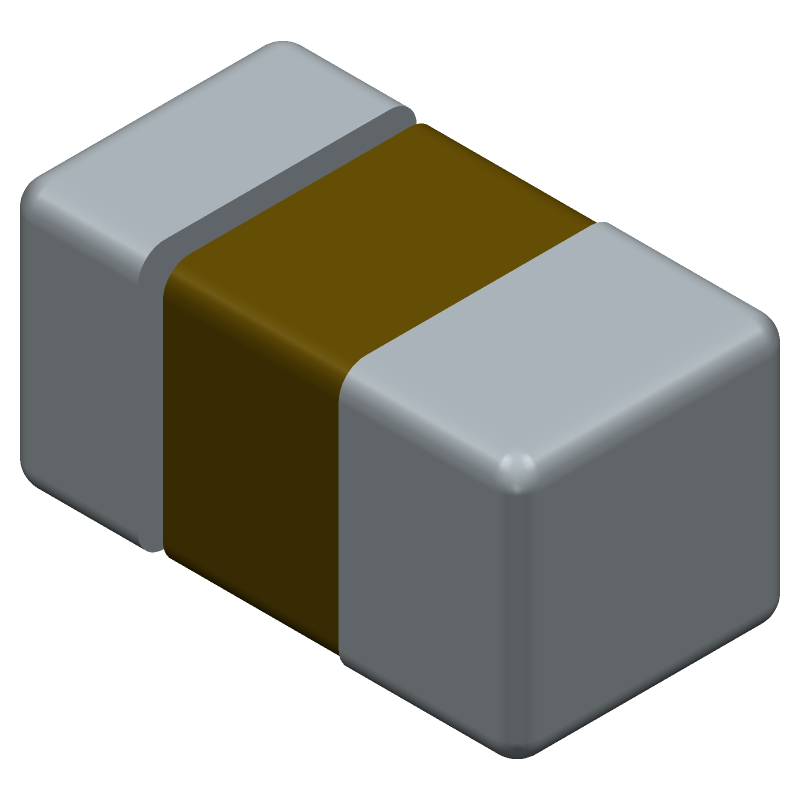 F950J107MPAAQ2 - AVX - 3D model - Capacitor Chip Polarised - F95 (P)